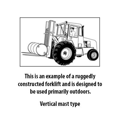 Rough Terrain Vertical Mast Type Class 7 Forklift Trucks