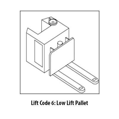 Low pallet lift code 6 Class 2 Forklift