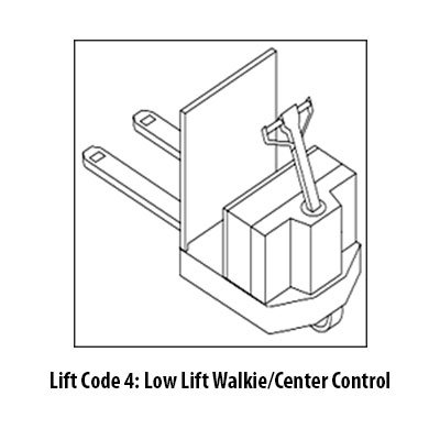 Low Lift Walkie Central Control Class 3 Forklift