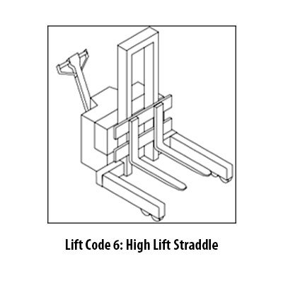 High Lift Straddle Class 3 Forklift