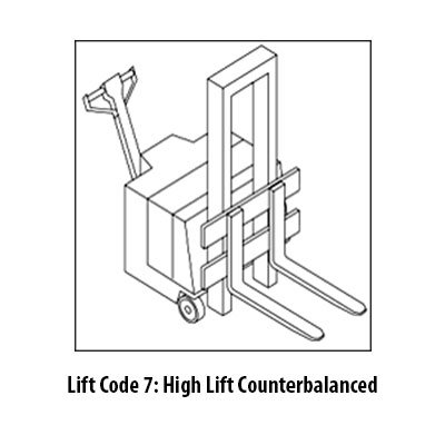 High Lift Counterbalance Class 3 Forklift