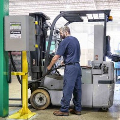 forklift battery fast charge